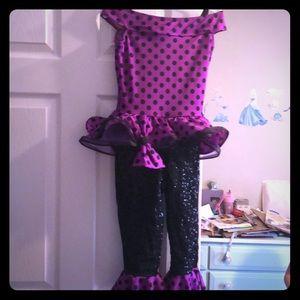 Polka dot costume- off the shoulder & super cute